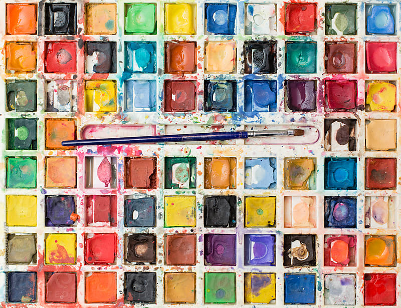 retro watercolor set by Brian Powell for Stocksy United