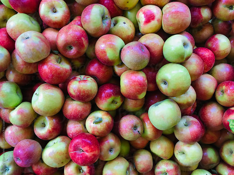 Apples at the fruitmarket by Good Vibrations Images for Stocksy United