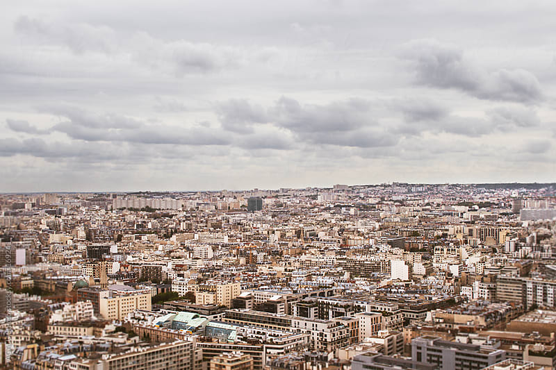 Paris from the air by ACALU Studio for Stocksy United