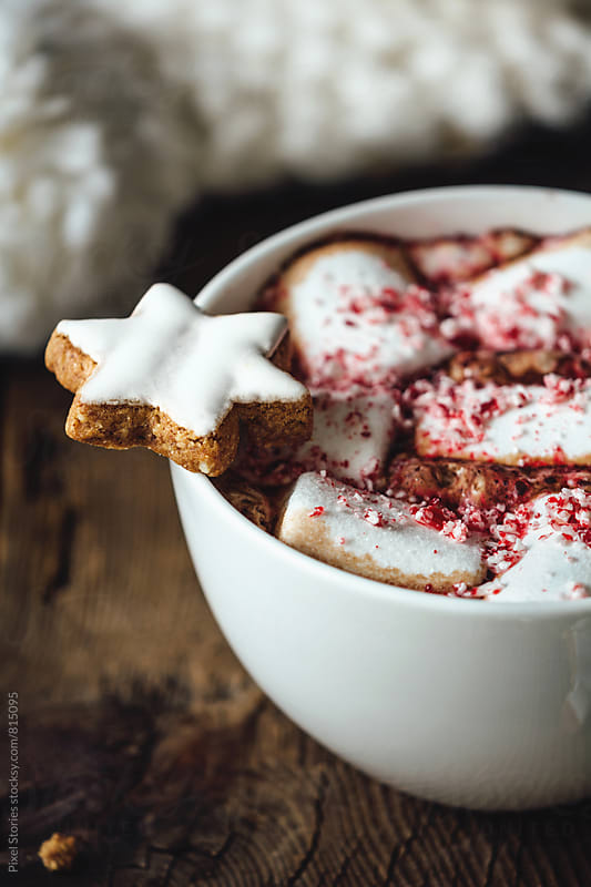Marshmallow hot cocoa by Pixel Stories for Stocksy United