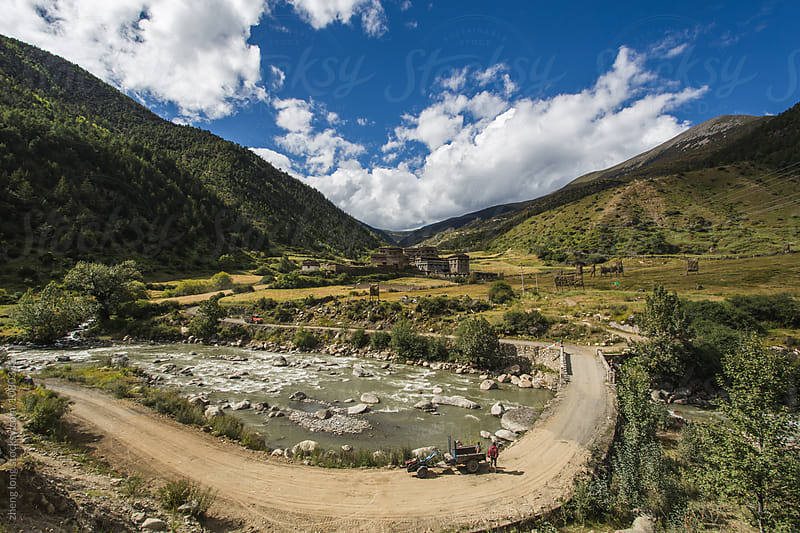 The village in Tibet by zheng long for Stocksy United