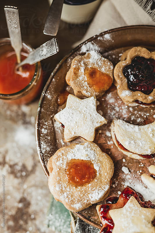 Homemade cookies with jam by Tatjana Zlatkovic for Stocksy United