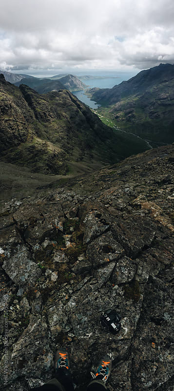 Vertical Panorama from the Cuillin Ridge on Skye by Neil Warburton for Stocksy United