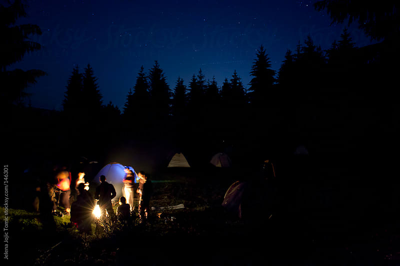 Warm night at the base camp by Jelena Jojic Tomic for Stocksy United