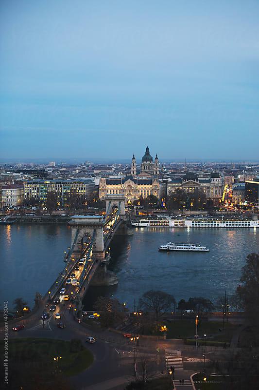 Budapest city at night by Jovana Rikalo for Stocksy United