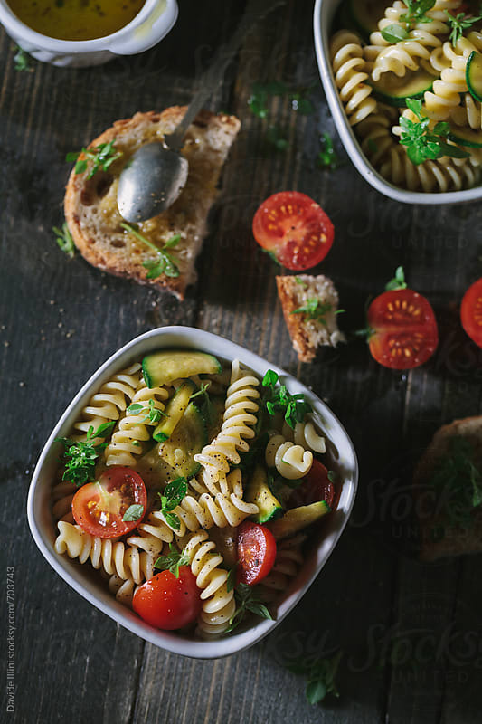 Fresh Pasta Salad by Davide Illini for Stocksy United