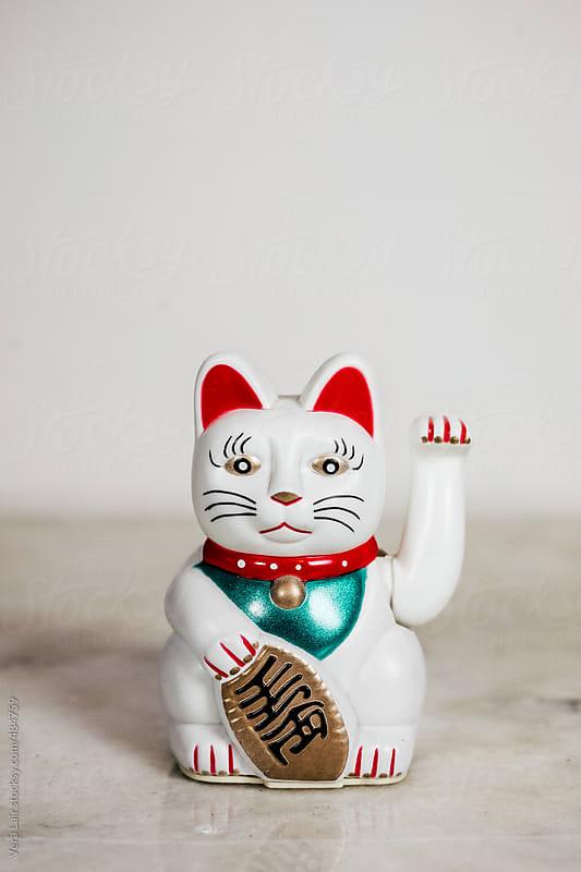 Maneki-neko, good fortune cat by Vera Lair for Stocksy United