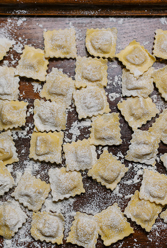 Fresh ravioli  by Darren Muir for Stocksy United