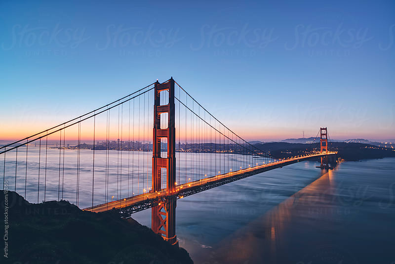 6am Golden Gate Bridge by Arthur Chang for Stocksy United