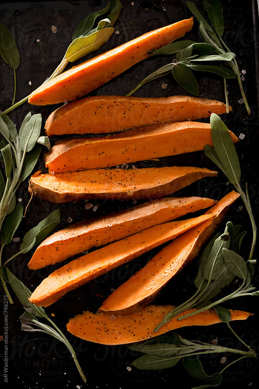 Raw Sweet Potato Wedges by Studio Six for Stocksy United