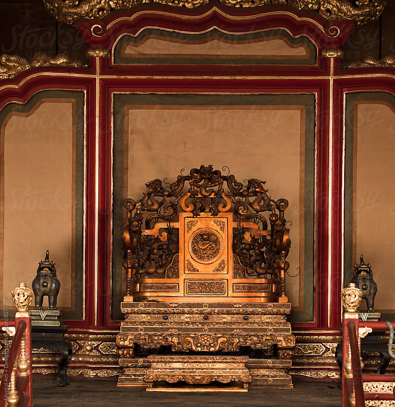 Throne, Forbidden City Beijing, China  by Mental Art + Design for Stocksy United