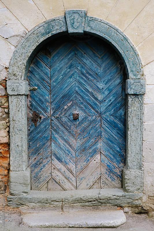 Old Blue Door by Aleksandra Jankovic for Stocksy United