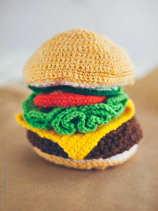 Amigurumi hamburger by CACTUS Blai Baules for Stocksy United
