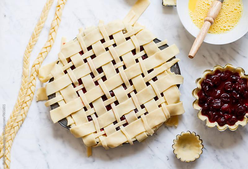 Cherry pie by Babett Lupaneszku for Stocksy United