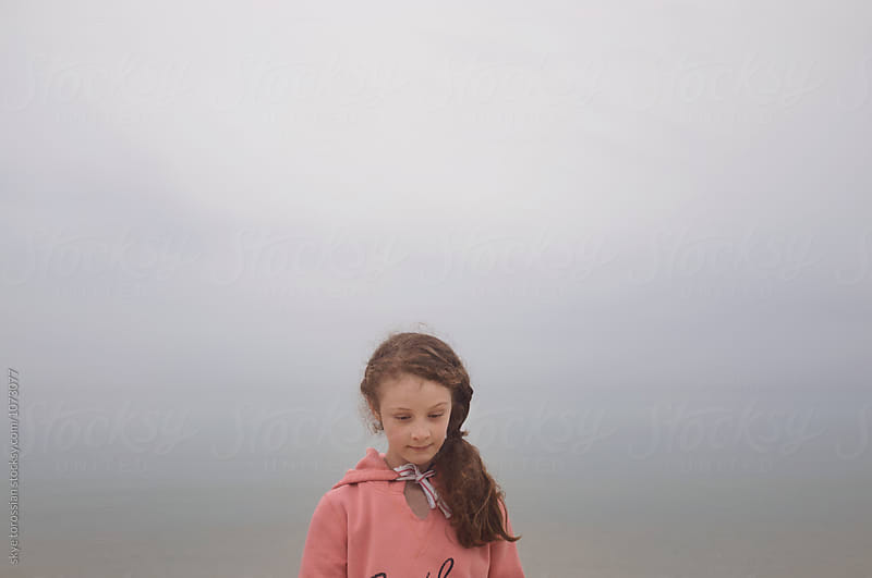 Foggy winters day at the beach by skye torossian for Stocksy United
