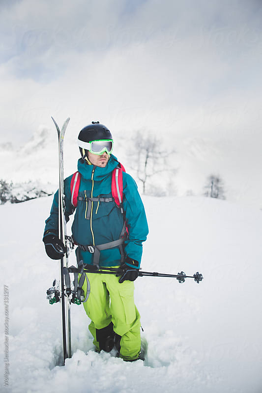 Male Skier Portrait by Wolfgang Lienbacher for Stocksy United