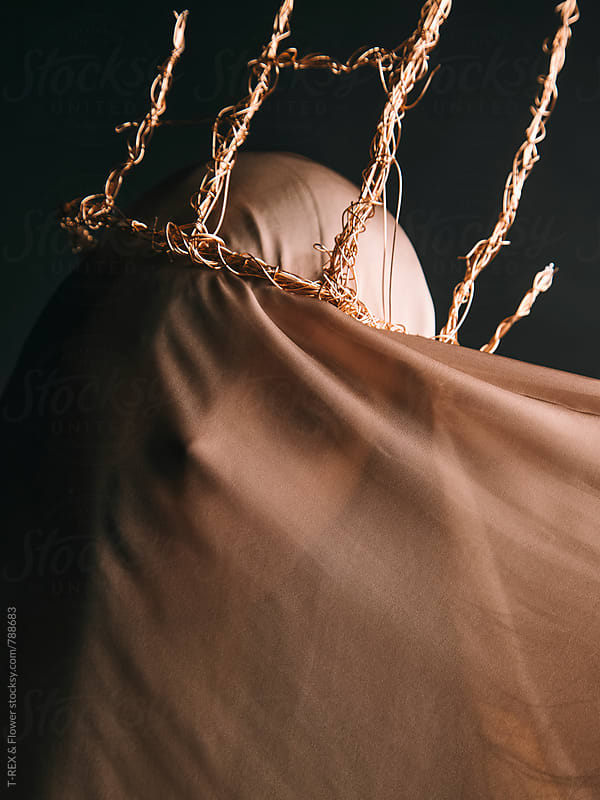 Woman under brown veil by Danil Nevsky for Stocksy United