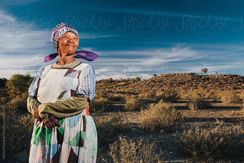 Proud Namibian Nama Woman Portrait by Micky Wiswedel for Stocksy United