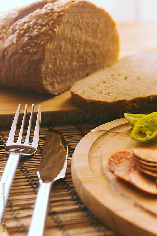 Breakfast on a table by Mark Korecz for Stocksy United