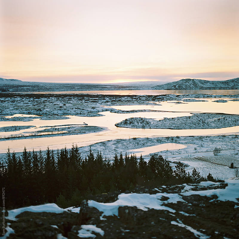 Sunrise at Thingvellir National park by Sam Burton for Stocksy United