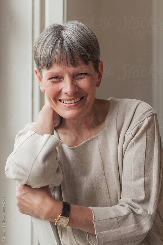 Senior Woman Smiling by Mosuno for Stocksy United