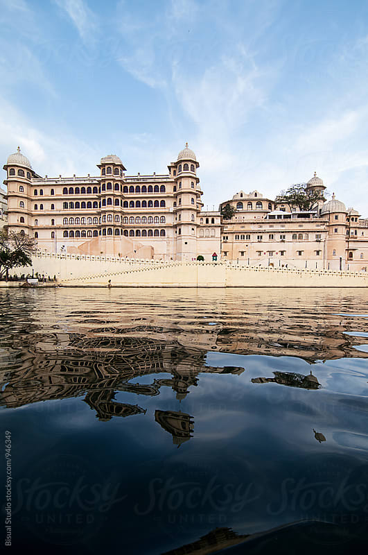 Udaipur Palace from Pichola Lake by Bisual Studio for Stocksy United