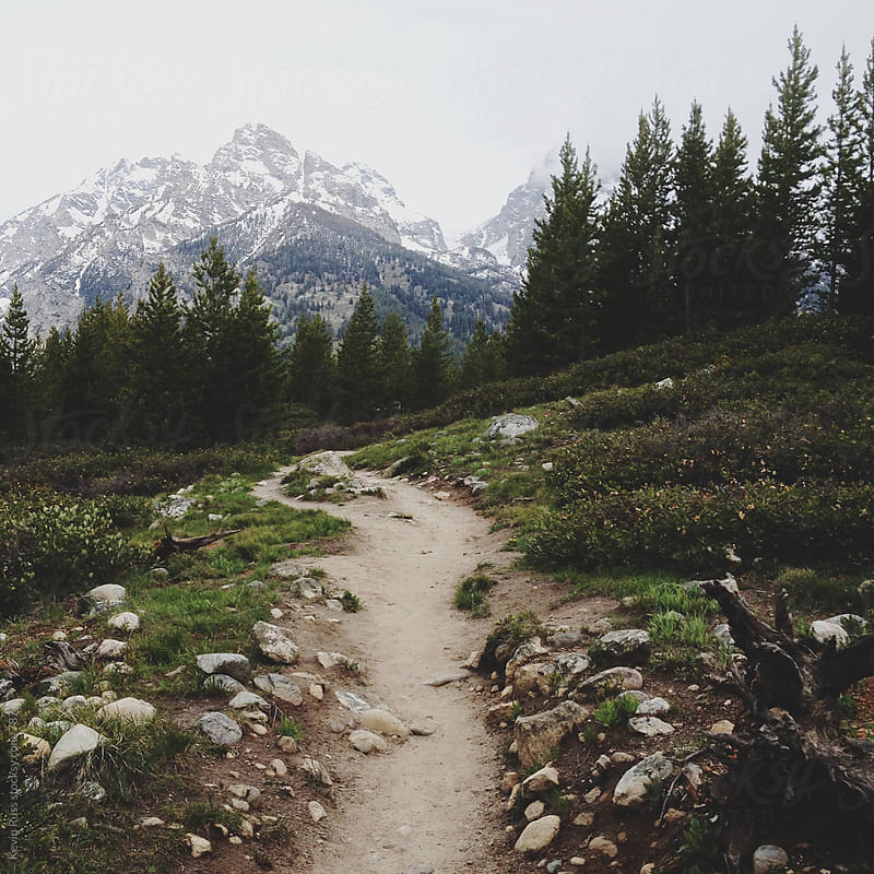 Teton Mountain Hiking Trail by Kevin Russ for Stocksy United