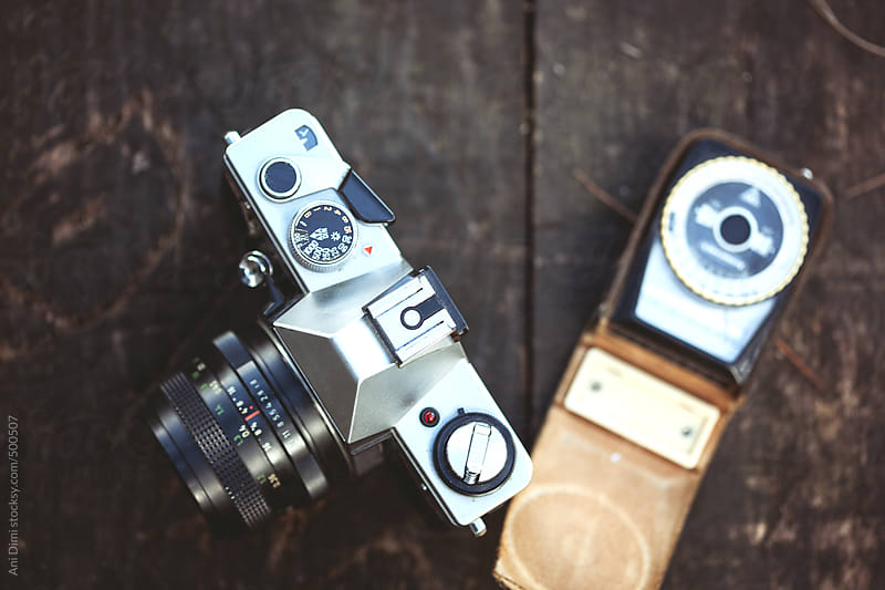Film camera with light meter by Ani Dimi for Stocksy United