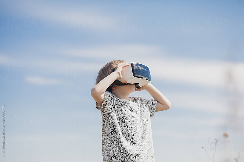 Boy in VR by Irina Efremova for Stocksy United