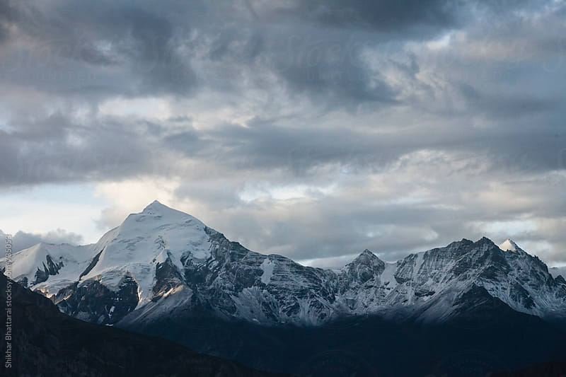 Annapurna, Nilgiri Range seen from the village of Samar in Upper Mustang. by Shikhar Bhattarai for Stocksy United