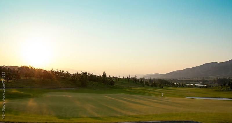 Golf field in Eastern Europe by MEM Studio for Stocksy United