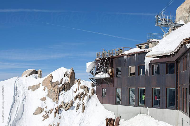 Aiguille du Midi refuge, Chamonix, France by Luca Pierro for Stocksy United