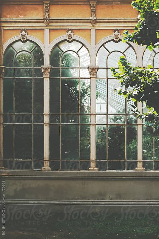 Beautiful greenhouse on Barcelona. El parc de la Ciutadella. Spain. by BONNINSTUDIO for Stocksy United