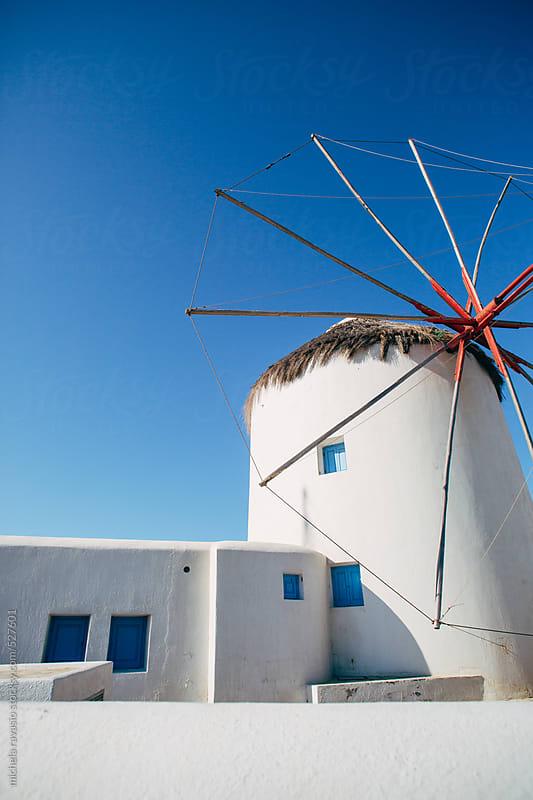 Windmill in Mykonos by michela ravasio for Stocksy United