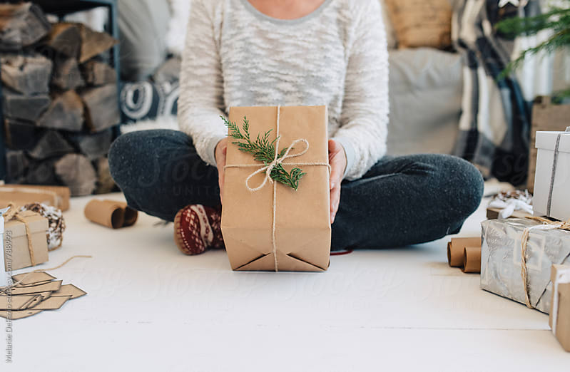 Gift wrapping  by Melanie DeFazio for Stocksy United