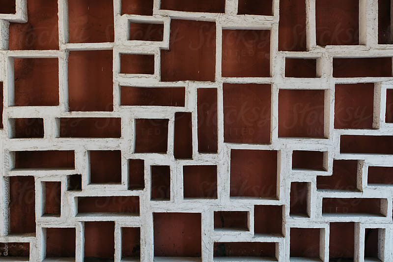Abstract structure on a building wall by Gabriel (Gabi) Bucataru for Stocksy United