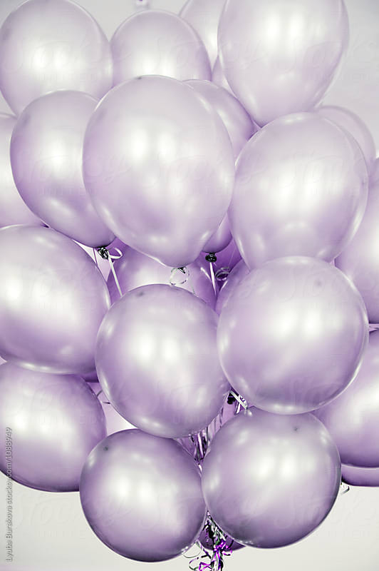 Lilac balloons by Lyuba Burakova for Stocksy United