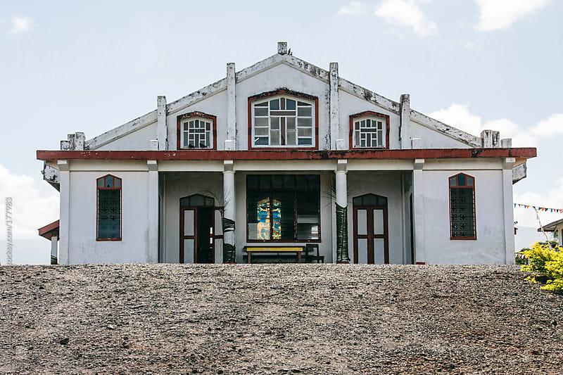 Church. White building by Alejandro Moreno de Carlos for Stocksy United