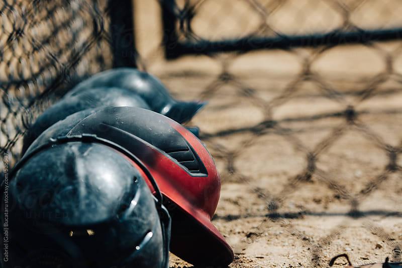 Baseball helmets by Gabriel (Gabi) Bucataru for Stocksy United