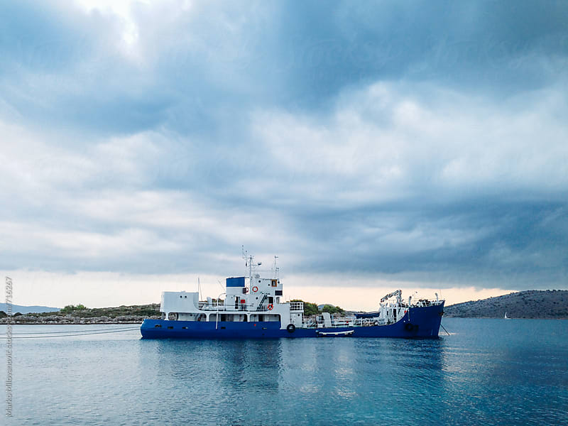 Big boat at the sea by Marko Milovanović for Stocksy United