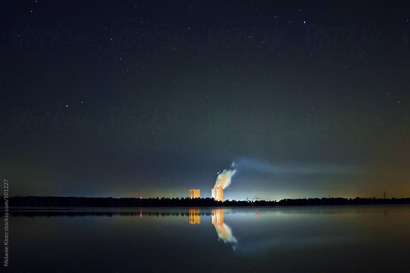 Electric Power Plant at night by Melanie Kintz for Stocksy United