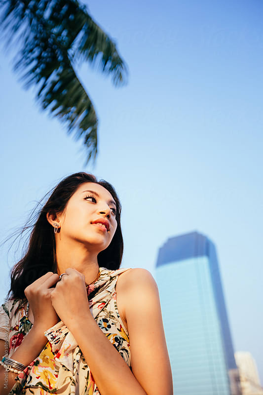 Portrait of young beautiful asian woman by michela ravasio for Stocksy United