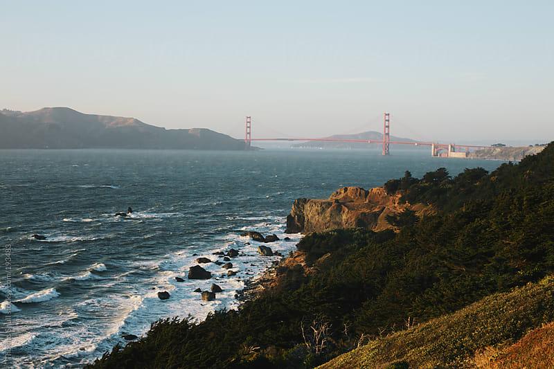Sunset on the Golden Gate by Thomas Shull for Stocksy United