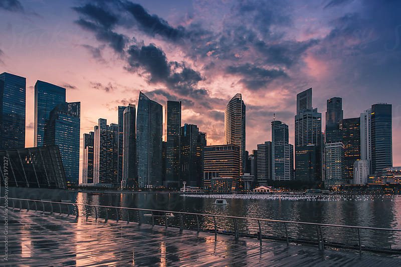Singapore Skyline by Alexander Grabchilev for Stocksy United