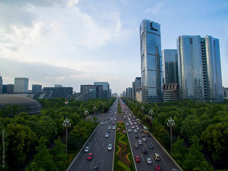 Chengdu city of Sichuan China by Bo Bo for Stocksy United