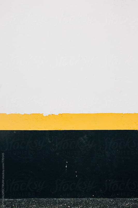 Black Yellow White Wall Background by VISUALSPECTRUM for Stocksy United