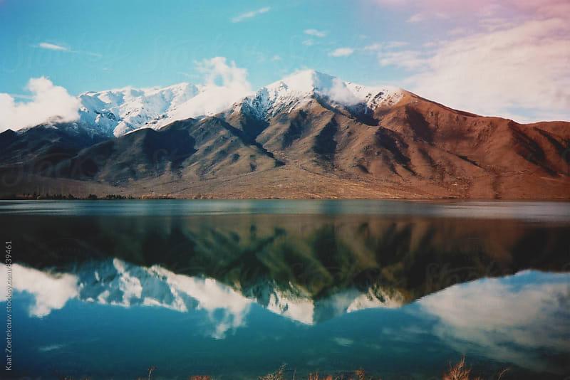 New Zealand mountain landscape by Kaat Zoetekouw for Stocksy United