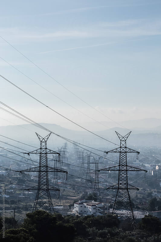Electrical Pylons by Helen Sotiriadis for Stocksy United