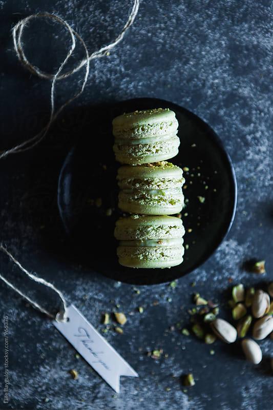 Pistachio macarons by Ellie Baygulov for Stocksy United