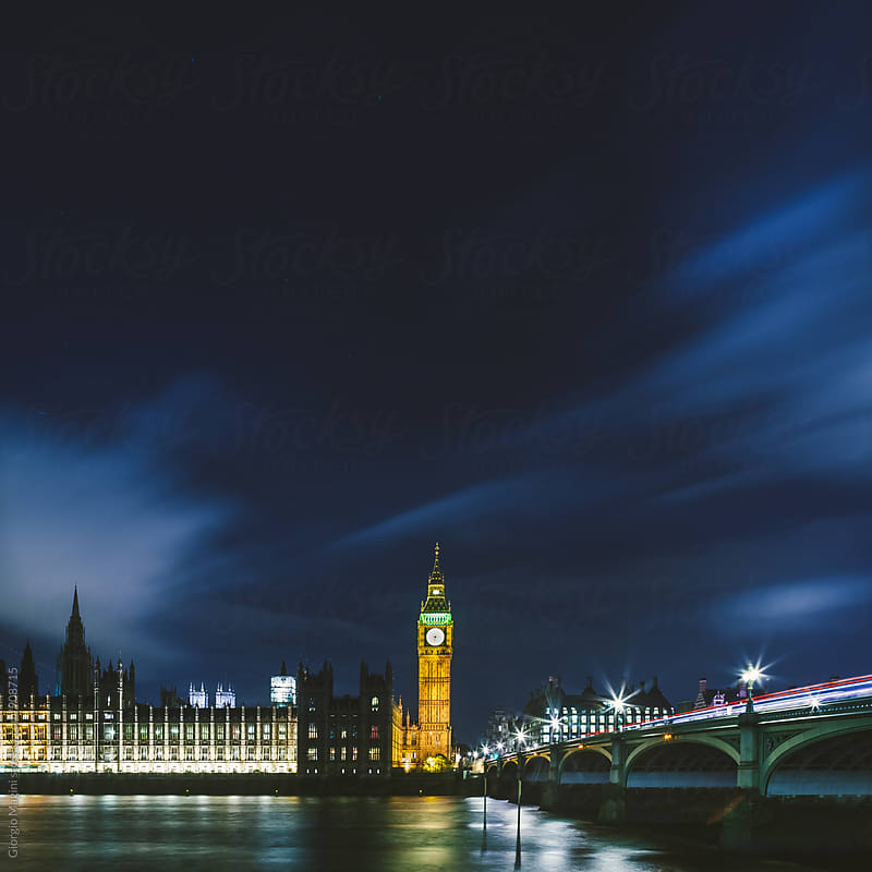 London by Night, Big Ben Tower Landmark by Giorgio Magini for Stocksy United
